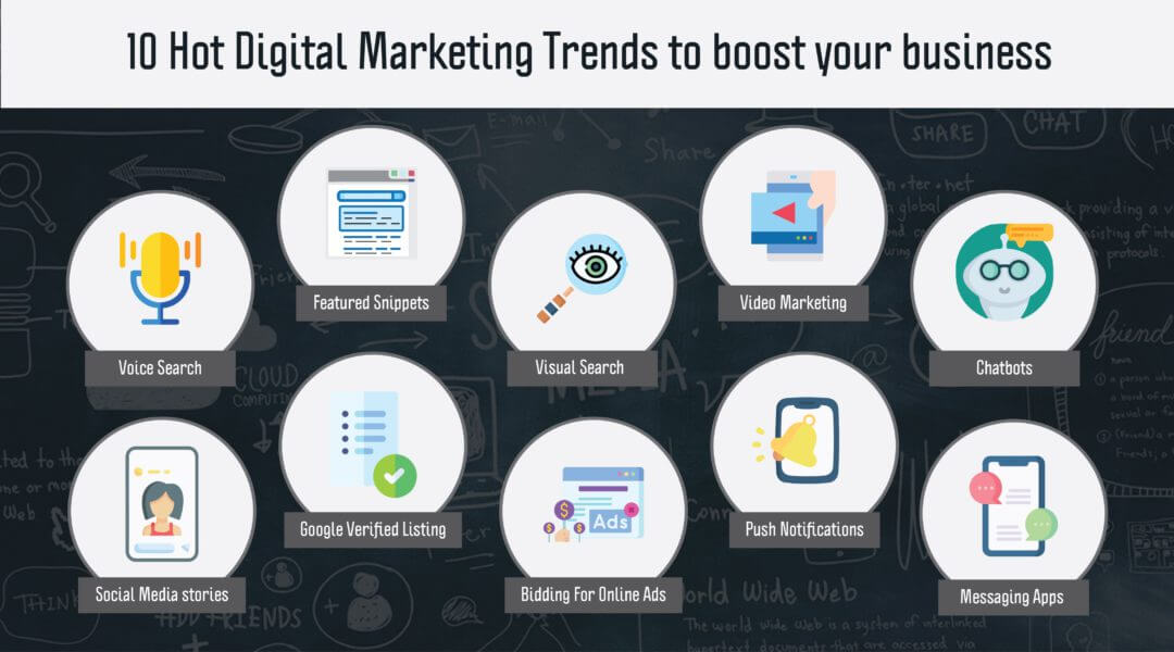 10 hot Digital Marketing trends to boost your business