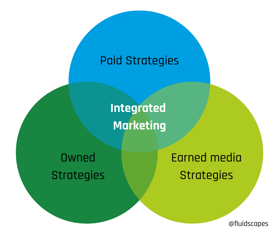 Paid, owned, and earned digital strategies